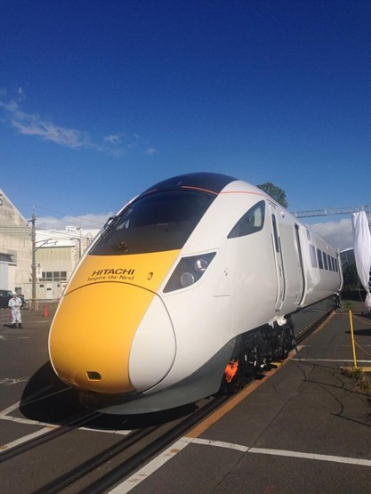 Hitachi Unveils Intercity Express Programme Pre-series In