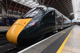 GWR 800005 at London Paddington. PAUL BIGLAND/RAIL.
