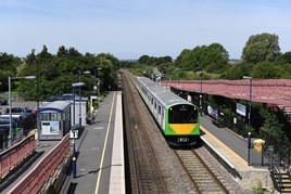 Vivarail 230001 passes Honeybourne on June 14, with a test run to Moreton-in-Marsh. JACK BOSKETT.