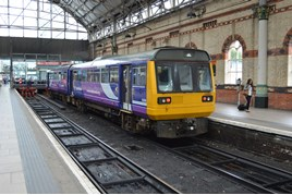Northern 142007 at Manchester Piccadilly on July 20 2015. RICHARD CLINNICK.