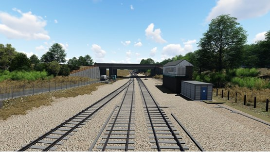 An artist's impression of Great Yarmouth after resignalling and remodelling. NETWORK RAIL.